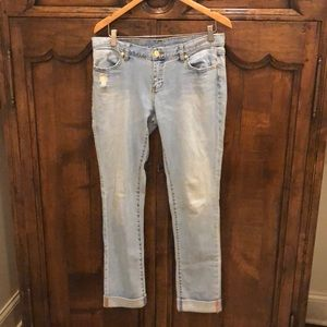 Torrey Burch jeans. Size 28. Slightly distressed